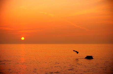 Deense zonsondergang