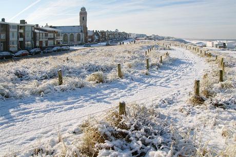 katwijk in de sneeuw