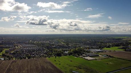 Stad Oss vanuit de lucht