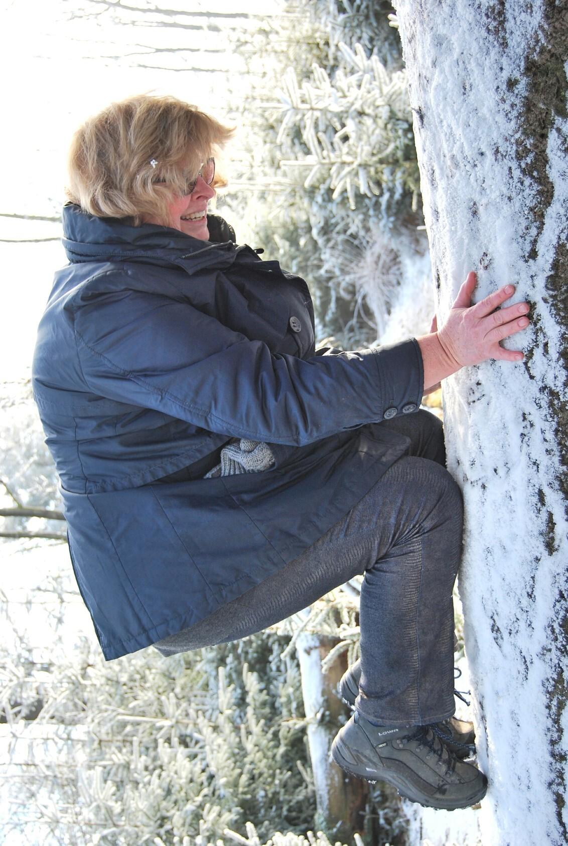 IMG_20170125_132240 - IJsklimmen op de Kale Duinen On my way tot the ..... - foto door calonnebol op 25-01-2017 - deze foto bevat: boom, licht, hart, sneeuw, knipoog, winter, landschap, beweging, verjaardag, beleving