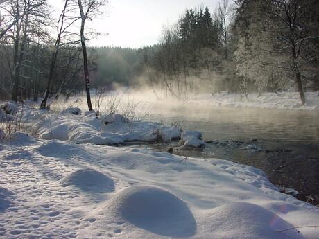 Vltava in de winter