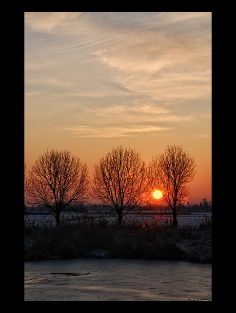 Zonsondergang van zondag