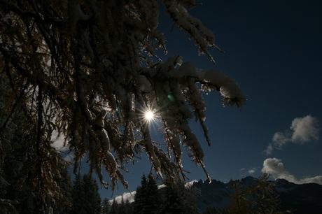 Sneeuw en zon.