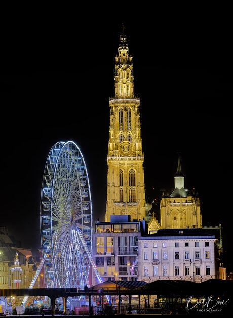 Kerst skyline Antwerpen