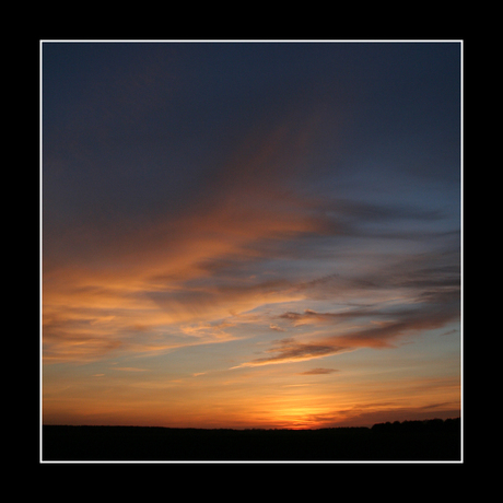 Zonsondergang boven Amen, Drenthe