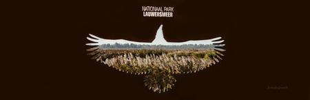 Nationaal Park lauwersmeer - Doorkijkje door een monument bij het Lauwersmeergebied. - foto door johndegrooth op 26-11-2016 - deze foto bevat: dijk, panorama, natuur, landschap