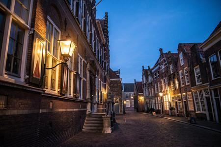 Blauw kwartiertje in Dordrecht - Hofstraat, Dordrecht - foto door TonyV op 05-03-2021