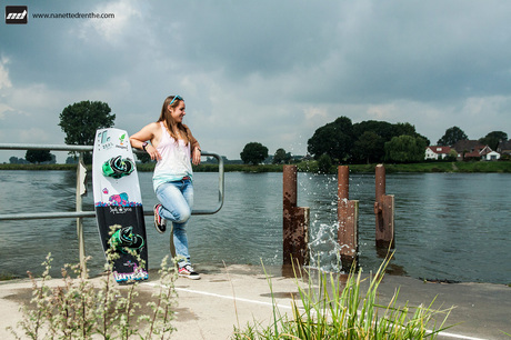 Waiting to wakeboard
