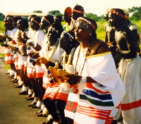 Gambia serie 1995 Dansgroep