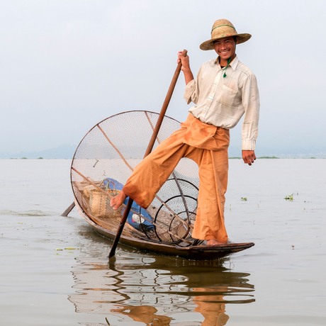 The Leg-Rowing Fisherman