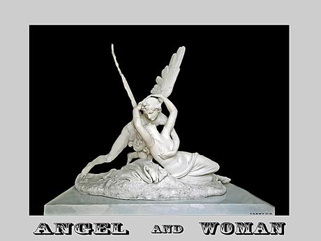 Engel en vrouw
