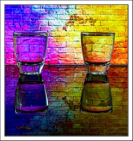 2 glaasjes vol kleuren