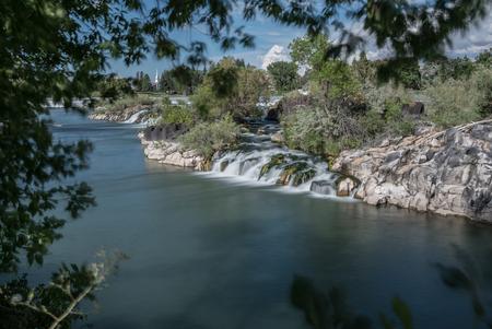 Idaho Falls - Deze foto is gemaakt tijdens onze reis door Noord-Amerika in Idaho Falls - foto door angelique3004 op 03-11-2017 - deze foto bevat: water, natuur, vakantie, reizen, landschap, zomer, kerk, amerika, wandelen, cultuur, toerisme, reisfotografie