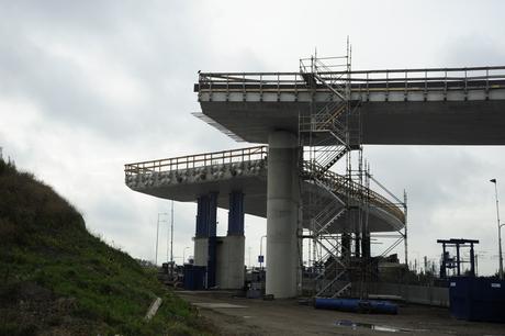 Bouw viaducten voor Blankenburgtunnel