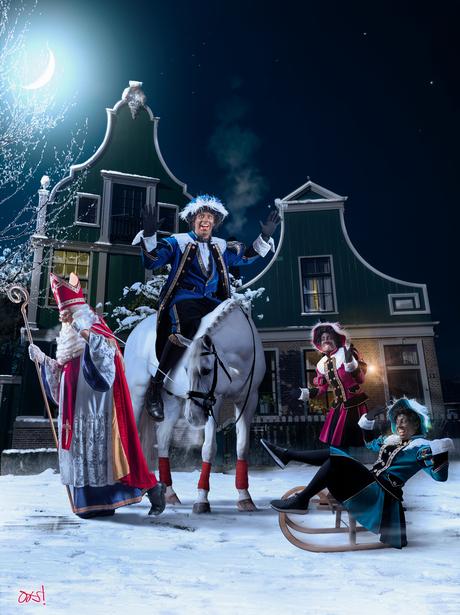 Sinterklaas Zie de maan schijnt door...