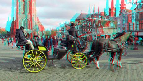 Rijtuig Markt Delft 3D