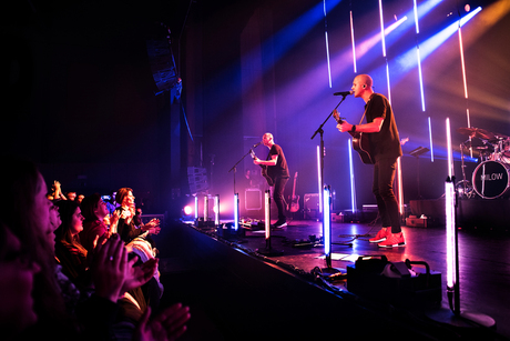 Milow and the crowd