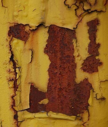 Roest in het geel