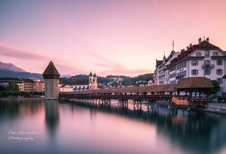 Sunset in Luzern