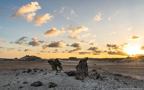 Sunset in de desert