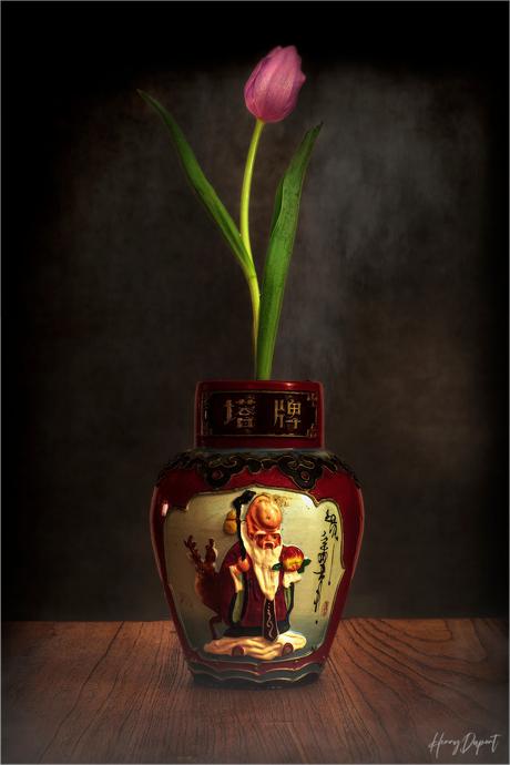 _chinese vaas met bloem