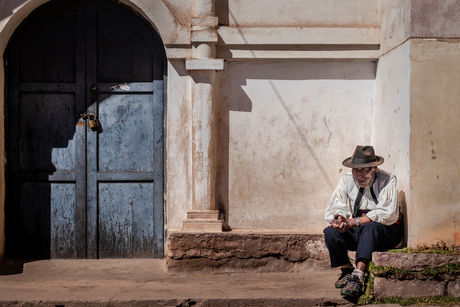 The Church Keeper - Taquile Island - Peru-6575