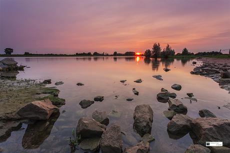 Sunset IJssel Windesheim.