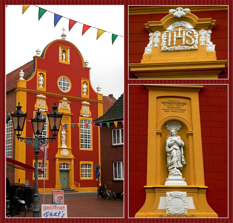 Gluren bij de buren - Duitsland, 13 oktober 2006 - foto door daniel44 op 28-03-2008 - deze foto bevat: rood, architectuur, geel, gebouw, duitsland, daniel44, buitenland