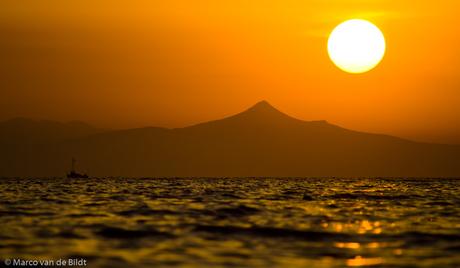 Zonsondergang, Griekenland