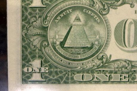 Macro 1:1 van een One Dollar