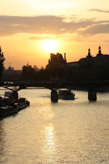 Zonsondergang bij de Seine