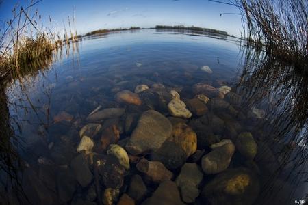 Kiezels - Nog 1 van de Vlietlanden bij Leiden. Dit keer met de 10,5mm fisheye. Mvg. Ray - foto door Ray Beers op 27-02-2021 - deze foto bevat: nikon, leiden, fisheye, vlietlanden, kiezels, Ray Beers