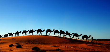 rode zand duinen in Marokko