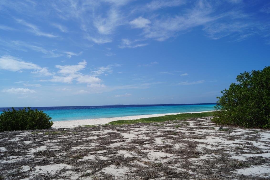 Klein Curaçao - Het strand van Klein Curaçao, met in de verte (als je goed kijkt) Curaçao. - foto door SHPhotography op 20-10-2019 - deze foto bevat: blauw, uitzicht, strand, zee, curacao