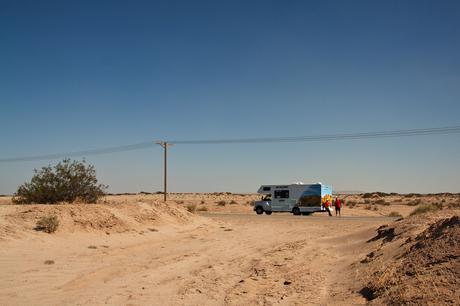 Even pauze in de Californische woestijn