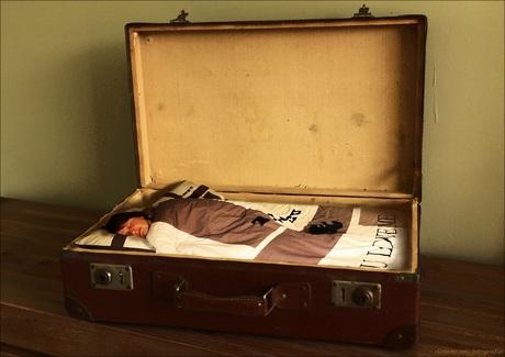 in de koffer gaan....