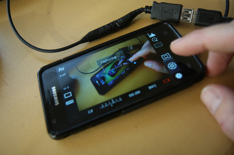 Canon live view op een android device via USB On The Go!