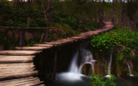 The plitvice bridge