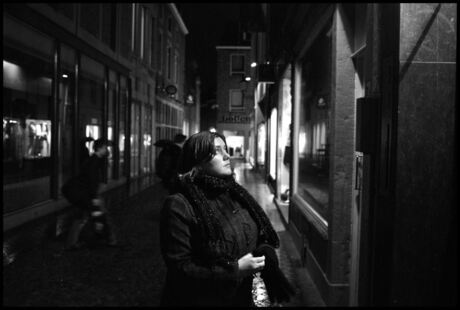 Marieke at night!