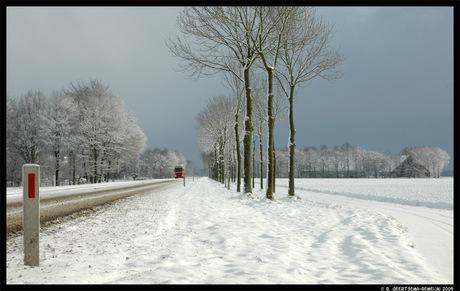 Sneeuw en dreiging van sneeuw