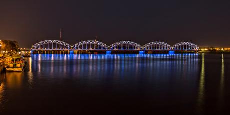 Spoorbrug over Daugava Riga
