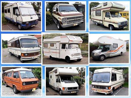 Collage  9  oldie campers  uit Westland en omg   fotos zomer 2021