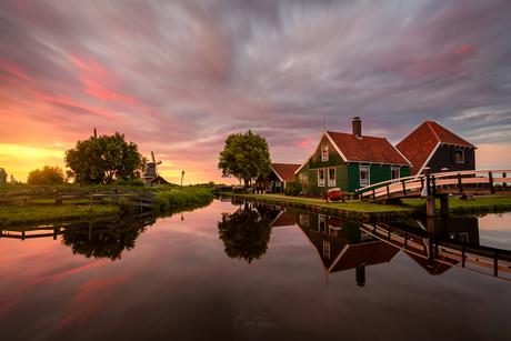 Summer evening in Zaanse Schans