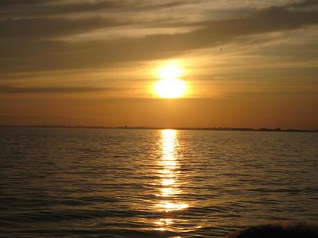 Avond op het IJsselmeer