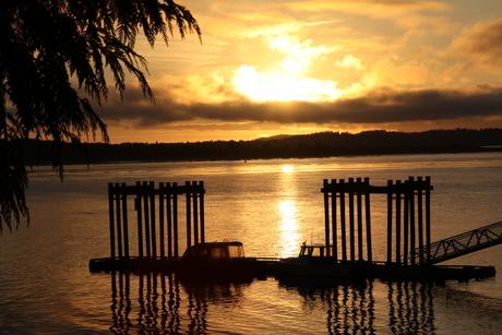 Prachtige zonsondergang