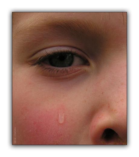 Sergio in tranen