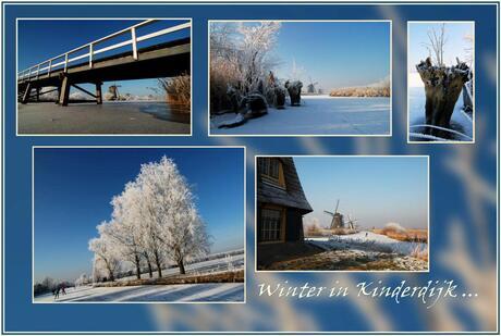 Collage van het winterlandschap...