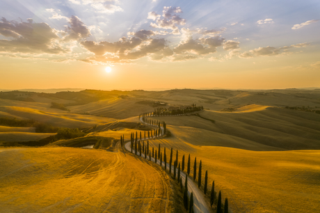 Golden hour in Tuscany