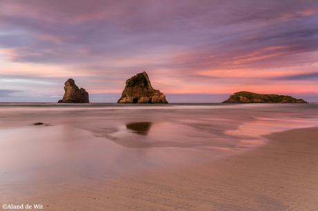 Wharariki beach Sunset