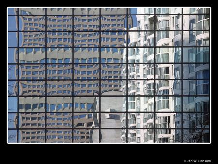 Rotterdam in spieglingen - Het Weena - foto door JanB_zoom op 29-03-2011 - deze foto bevat: rotterdam, architectuur, spiegeling